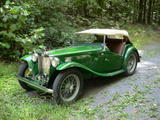 Phil Arty Williams 1949 MG TC Hunter Green