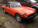Heather H 1980 MG MGB Blaze Orange