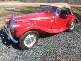 1954 MG TF Red Deborah Cook