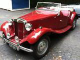 1950 MG TD Maroon Phil Arty Williams