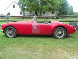 1961 MG MGA 1600 Red Robert White
