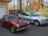1971 MG Midget MkIII Burgundy a 007 Mike