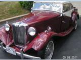 1952 MG TD Maroon Carl Speikers