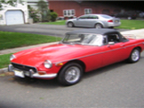 1971 MG MGB Red Bob Koket