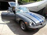 1974 MG MGB GT Silver W Navy Racing Stripes Joseph Browning
