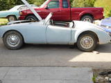 1962 MG MGA MkII Glacier Blue Terry Armitage