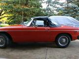 1975 MG MGB Orange red Gary Beckefeld