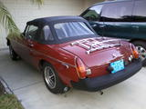1980 MG MGB Carmine Red DANE GREEN