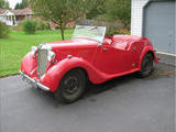 1950 MG Y Type Saloon Red Phil Arty Williams