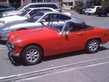 1970 MG Midget Red Ty Frisby