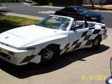 1981 Triumph TR7 Drophead White W Checkered Flag Grafix John Walsh