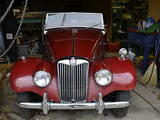 1955 MG TF 1500 Dark Red Rod Hahnemann